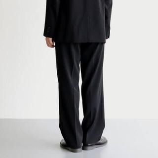 COMOLI - AURALEE WOOL MAX GABARDINE SLACK Black 4