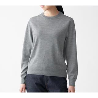 ムジルシリョウヒン(MUJI (無印良品))の無印良品 ウールシルク洗えるクルーネックセーター(ニット/セーター)