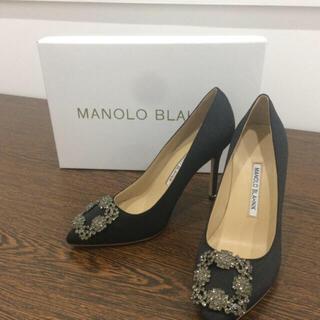 マノロブラニク(MANOLO BLAHNIK)の37cm MANOLO BLAHNIK ブラック ハイヒール(ハイヒール/パンプス)