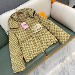 グッチ(Gucci)の2021 コラボ グッチ ノースフェイス ダウンジャケット ベージュ(カーディガン)