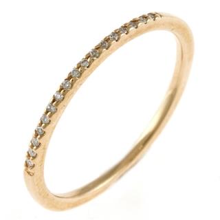 agete - 中古 アガット agete リング 指輪 9号 K10 ダイヤ ハーフエタニティ