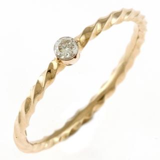 agete - 【中古】アガット agete リング 指輪 9号 K10 ゴールド ダイヤモンド