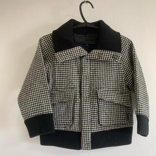 コムサデモード(COMME CA DU MODE)のウールジャケット キッズ コート 上着 防寒 千鳥格子 ブルゾン(ジャケット/上着)
