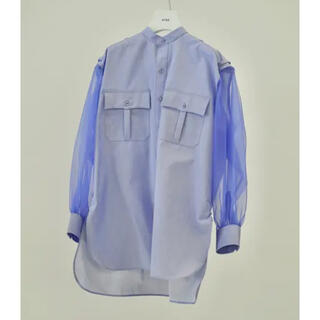 ハイク(HYKE)の新品未使用 HYKE GROSGAIN SHIRT BLUE   サイズ1(シャツ/ブラウス(長袖/七分))