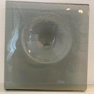 Sghr - glass studio スクエア斜めボウル皿 クリアブラックプレート 3枚