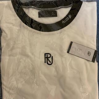 snidel - 完売品 新品 Riu logo bicolor T-shirt 白 Rちゃん