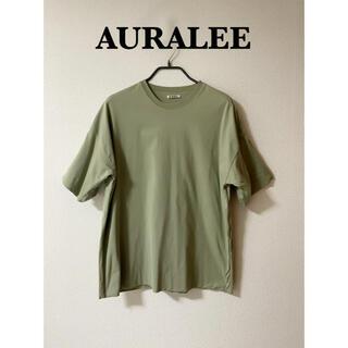 AURALEE オーラリー ◆ハイゲージ ダブル クロス Tシャツ