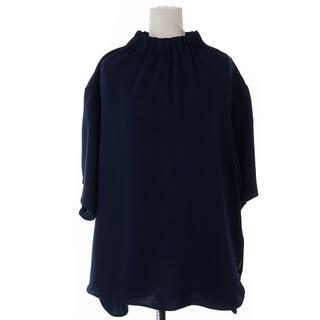 Lois CRAYON - ロイスクレヨン ブラウス シャツ プルオーバー 半袖 M 紺