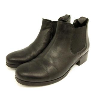 ファビオルスコーニ(FABIO RUSCONI)のファビオルスコーニ サイドゴアブーツ ショートブーツ 35 22cm 黒(ブーツ)