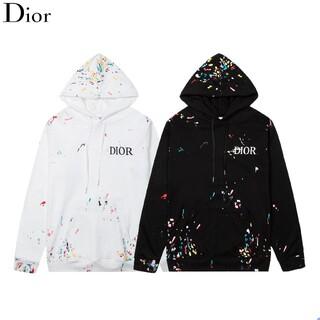 Dior - 2枚1000円引 DIOR#HQN080303 ロゴ付き パーカー 新品
