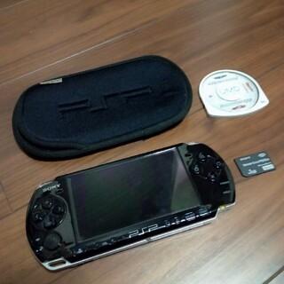 PlayStation Portable - PSP3000☆ブラック☆本体☆メモカ1GB☆ソフト1本付き