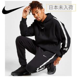 NIKE - 【イギリス限定】Nike taping swoosh black hoodie