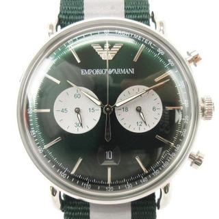 エンポリオアルマーニ(Emporio Armani)のエンポリオアルマーニ 腕時計 Aviator AR11221 アナログ 緑系(腕時計(アナログ))