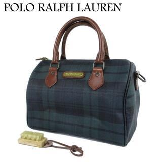 POLO RALPH LAUREN - ポロ・ラルフローレン ロゴ チェック柄 ミニ ボストン ハンド バッグ