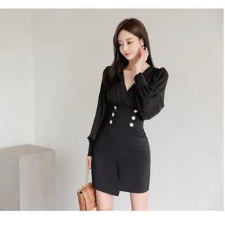 【本日限定セール】ROBEジャンル♡韓国ファッション エレガントキャバドレス 黒