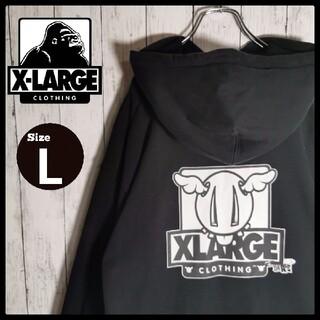 エクストララージ(XLARGE)の【即完売モデル】XLARGE バックプリント プルオーバーフーディ L 入手困難(パーカー)