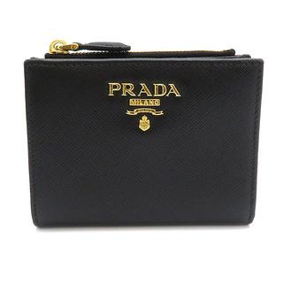PRADA - プラダ  二つ折り財布  コンパクトウォレット 1ML023  ブラック