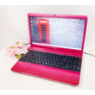 SONY - 人気のVAIO かわいいピンク♪ メモリ6GB Webカメラ Blu-ray搭載