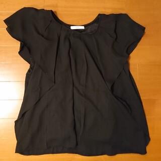 フェリシモ(FELISSIMO)の美品 フェリシモ  イディット IDET トップス 黒(カットソー(半袖/袖なし))