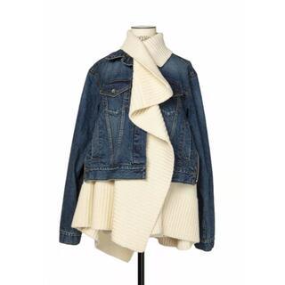 サカイ(sacai)のSacai Denim x Knit サイズ2(Gジャン/デニムジャケット)