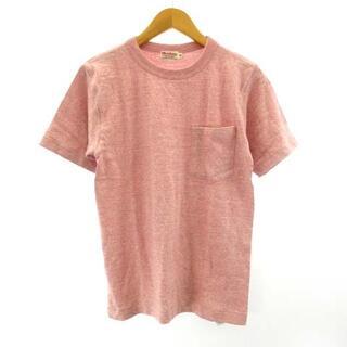 ウエアハウス(WAREHOUSE)のウエアハウス WAREHOUSE Tシャツ カットソー ピンク 36 約S(Tシャツ/カットソー(半袖/袖なし))