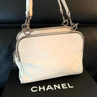 CHANEL - 正規品◆レア◆美品 CHANEL シャネル レザーハンドバッグ ホワイト