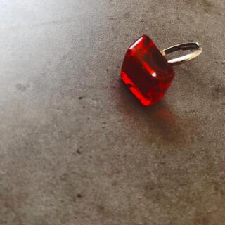 アンジェリックプリティー(Angelic Pretty)のダイヤ ガラス リング クリア 透け シルバー(リング(指輪))