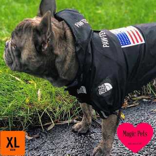 犬服♡ウィンドブレーカー♡ブラック♡反射テープ付き♡男の子女の子兼用♡XLサイズ