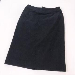 アーヴェヴェ(a.v.v)のa.v.v♡ウールタイトスカート♡ブラック34♡状態◎美品♡冠婚葬祭アーベーベー(ひざ丈スカート)