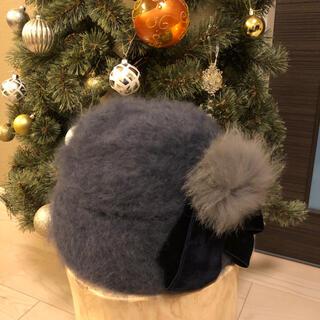 カシラ(CA4LA)のCA4LA 帽子 カシラ ポンポン ニット(ニット帽/ビーニー)