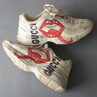 Gucci - 美品♡グッチGUCCI ライトンマウス スニーカー 27cm 552089 白靴