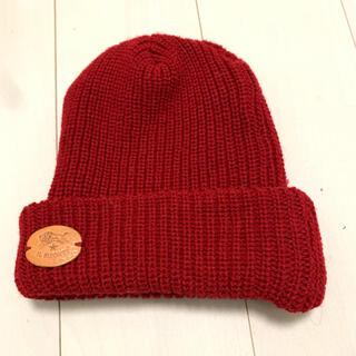 IL BISONTE - イルビゾンテ ニット帽(赤)