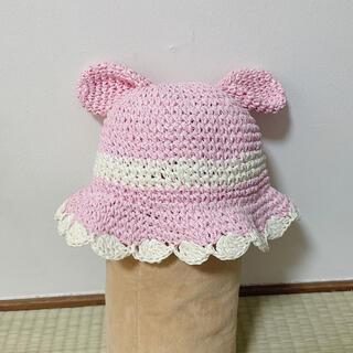 キッズズー(kid's zoo)のキッズズー うさぎ ペーパーハット 帽子 48cm(帽子)