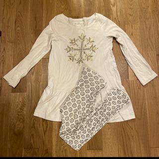 エイチアンドエム(H&M)のH&M 薄手 パジャマ 雪 結晶 ホワイト 白(パジャマ)