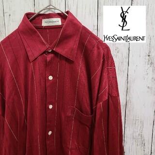 Yves Saint Laurent Beaute - 【希少】 YSL イヴサンローラン ロゴ 長袖シャツ ヴィンテージ