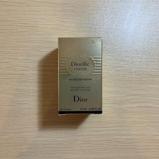 ディオール(Dior)のディオリフィック グリッター トップ コート 001  ゴールデンスノー(マニキュア)