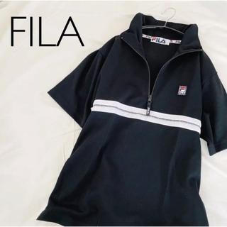 フィラ(FILA)の【FILA】ポロシャツ ハーフジップ 黒(ポロシャツ)