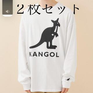 KANGOL - KANGOL カンゴール ビッグシルエットプリント長袖Tee 2枚セット