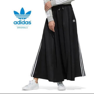adidas - adidas スリーライン ロングスカート   黒