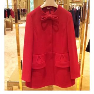 miumiu - miumiu 赤 リボン コート