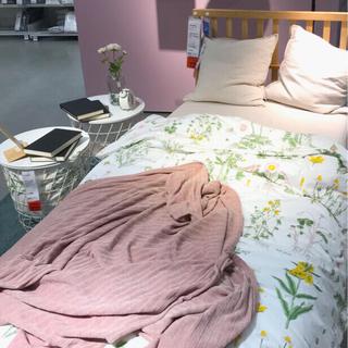 イケア(IKEA)のIKEA  STRANDKRYPA掛け布団カバー&枕カバー(シーツ/カバー)