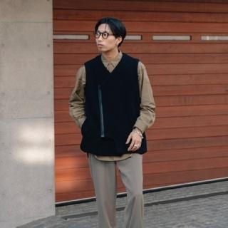 semoh 21aw Wool ZIP Vest