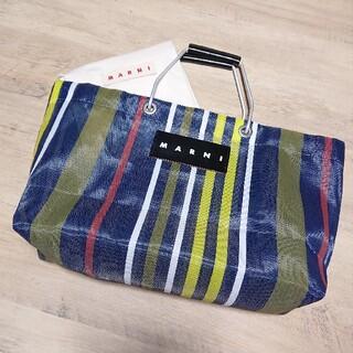 マルニ(Marni)のMARNI マルニ フラワーカフェ ストライプ バッグ(トートバッグ)