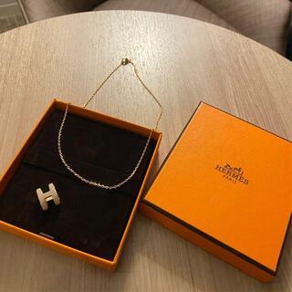 エルメス(Hermes)のエルメス ポップHネックレス 新品 正規品 マロングラッセ ポップアッシュ(ネックレス)