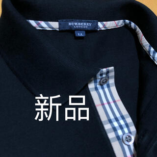 新品【日本製】バーバリーロンドン 長袖ポロシャツ LL