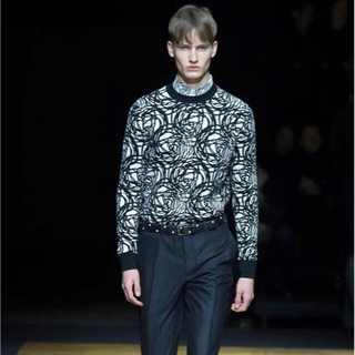 DIOR HOMME - Dior homme   14AW 薔薇 ローズ 柄 ニット セーター