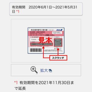 ANA(全日本空輸) - ANA   全日空 株主優待券2枚 有効期限2021.11.30