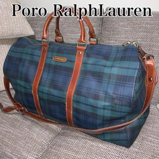 ポロラルフローレン(POLO RALPH LAUREN)のPoro RalphLauren ポロラルフローレン ボストンバッグ チェック(ボストンバッグ)