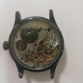 メンズ機械式 ミリタリー手巻き時計裏透けモデル 訳あり