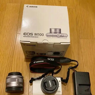 Canon - Canon EOS M100 Wレンズキット WH